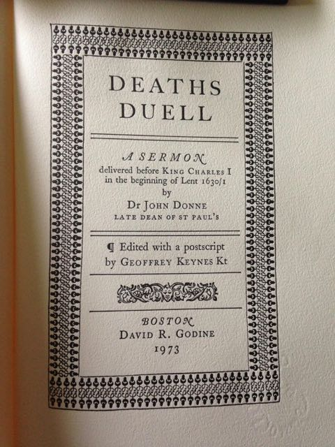 Image for Deaths Duell. A sermon delivered before King Charles I in the beginning of Lent 1630