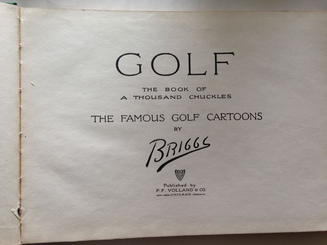 Image for Golf, the Book of a Thousand Chuckles: The Famous Golf Cartoons