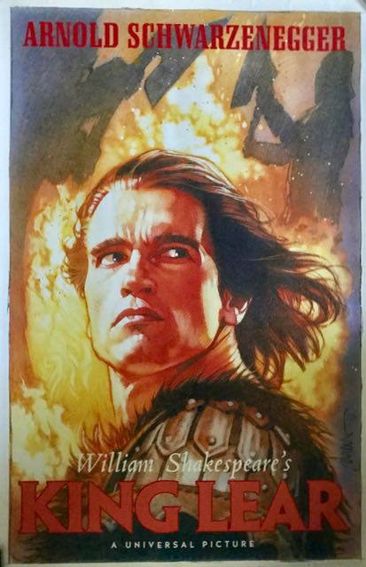 "Image for Film Poster: ""William Shakespeare's King Lear"" starring Arnold Schwarzenegger."