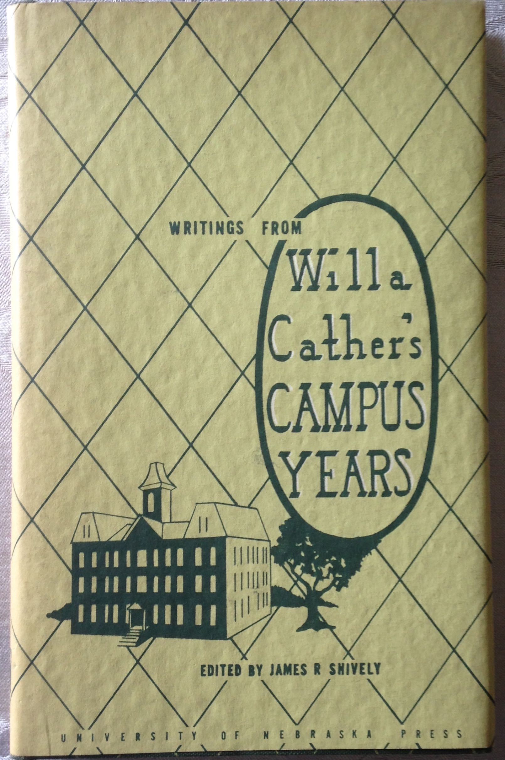 Image for Writings from Willa Cather's Campus Years