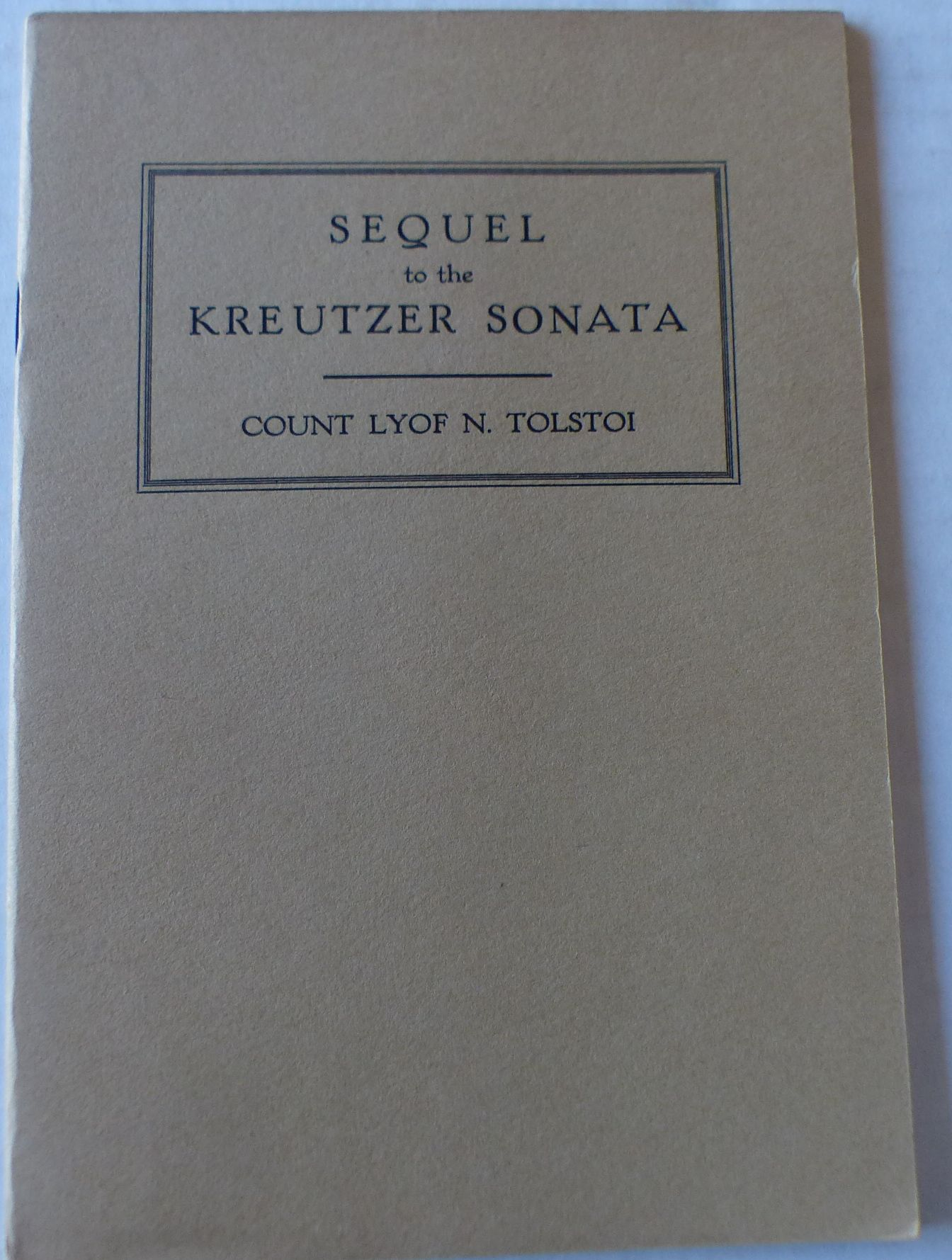 Image for Sequel to the Kreutzer Sonata