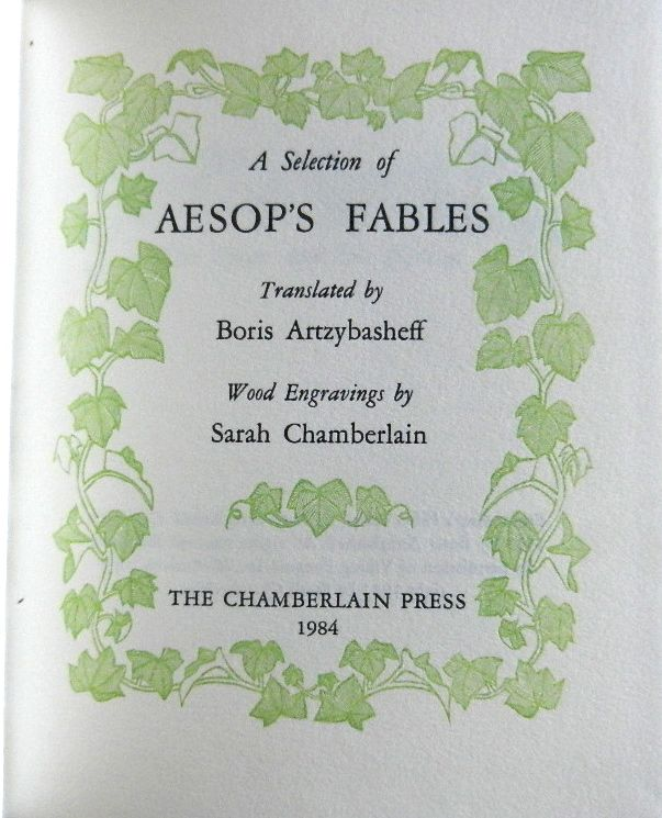 Image for A Selection of Aesop's Fables (translated by Boris Artzybasheff)