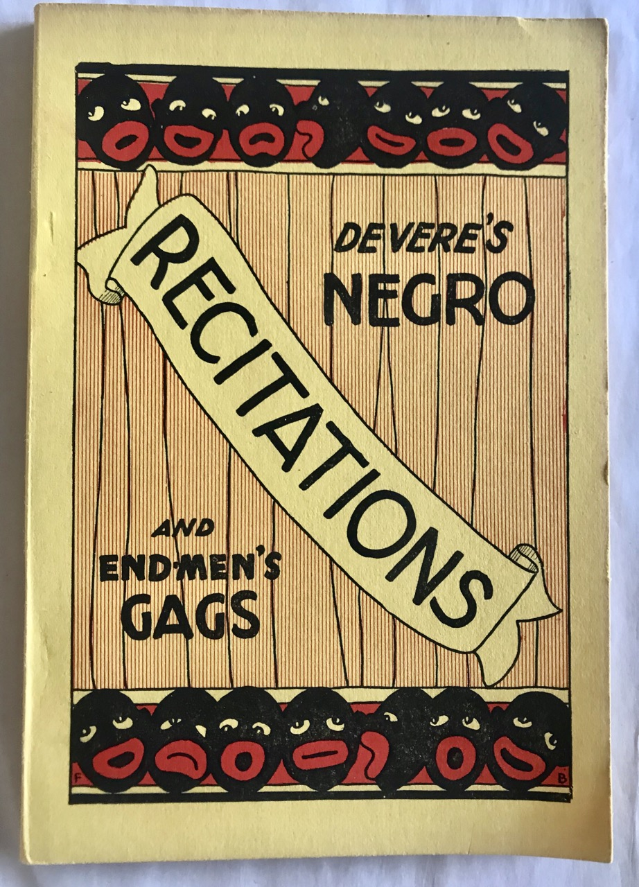Image for Devere's Negro Sketches / Recitations and End-Men's Gags