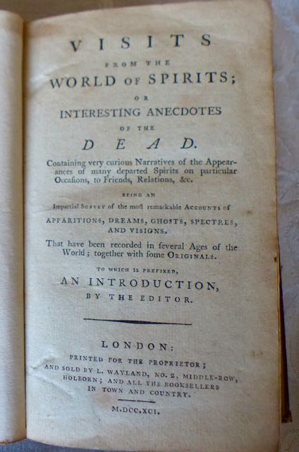 Image for Visits from the world of spirits; or interesting anecdotes of the dead.