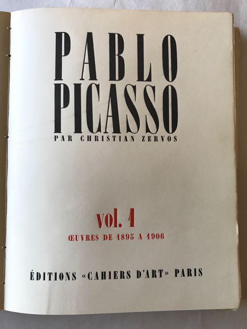 'Pablo Picasso - L'Ouvre par Christian Zervos,' First editions of Vols 1-5 & 7-9.
