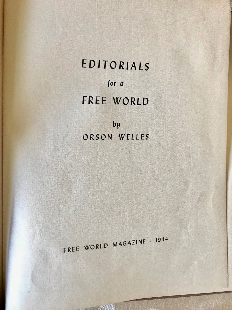 Image for Editorials for a Free World