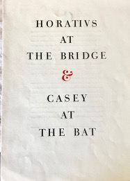 Image for Horatius At The Bridge & Casey At The Bat.