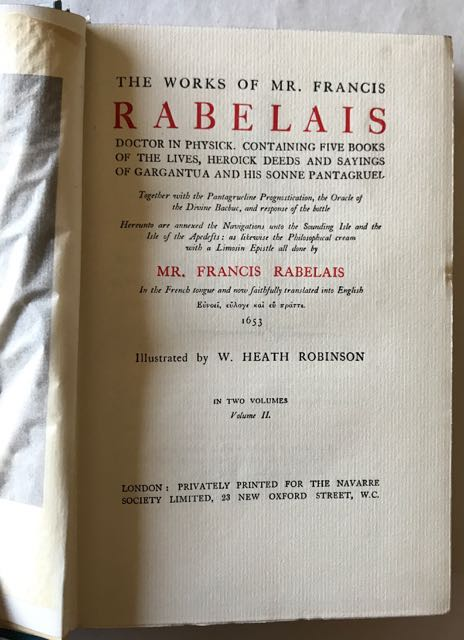 Image for The Works of Mr. Francois Rabelais