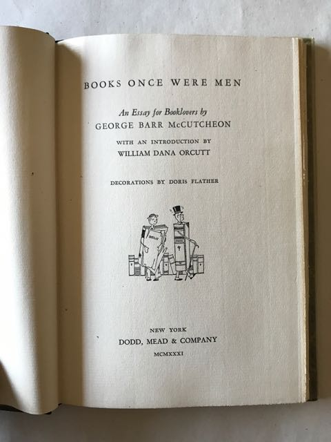 Image for Books Once Were Men / An Essay for Booklovers