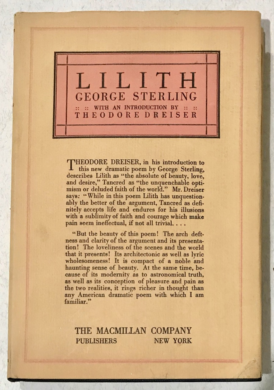 Image for Lilith: A Dramatic Poem [With Theodore Dreiser introduction]