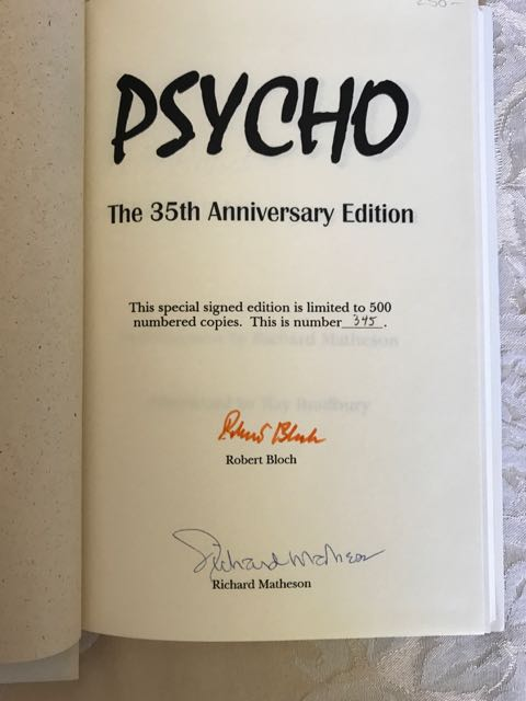 Image for Psycho - The 35th Anniversary Edition Psycho [Limited/Signed]
