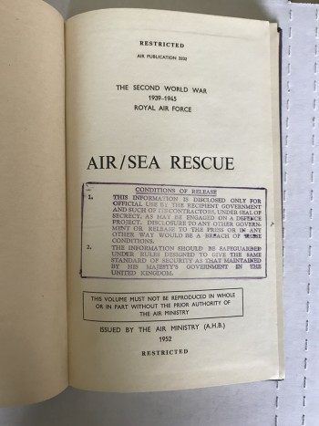 Image for Air/Sea Rescue - The Second World War 1939-1945 / Royal Air Force  - restricted Air Publication No. 3232