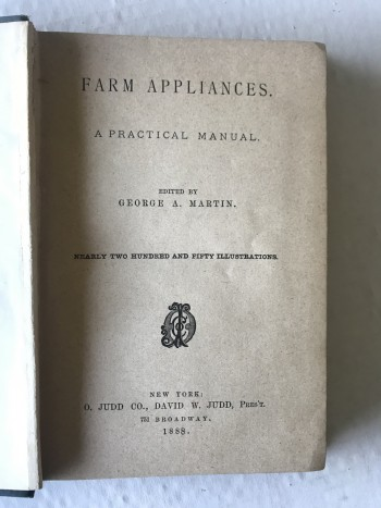 Image for FARM APPLIANCES: A PRACTICAL MANUAL