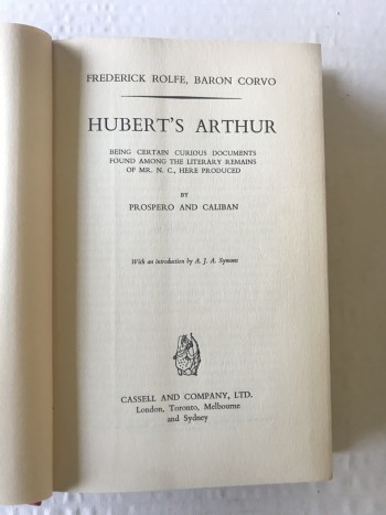 Image for Hubert's Arthur. Being certain curious documents found among the literary remains of Mr N. C., here produced.