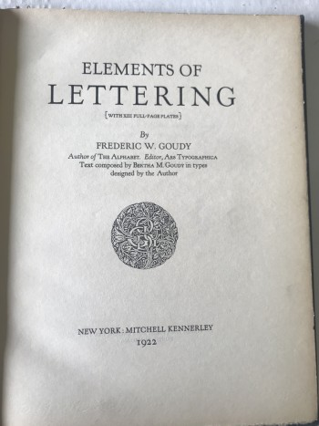Image for Elements of Lettering