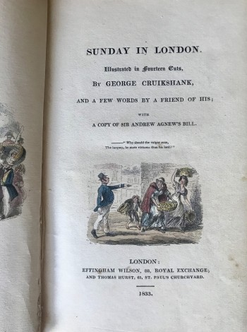 Image for Sunday in London (Illustrated by George Cruikshank)