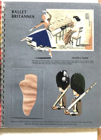 "Image for Aberlé Ballet / Fall & Winter / 1942.  ""Aberlé presents SHEER ENDURING RAYON STOCKINGS/ ALLIED BALLET of COLOR / FALL & WINTER"" / ""Presentation for a Most Prophetic Season Fall 1942"""