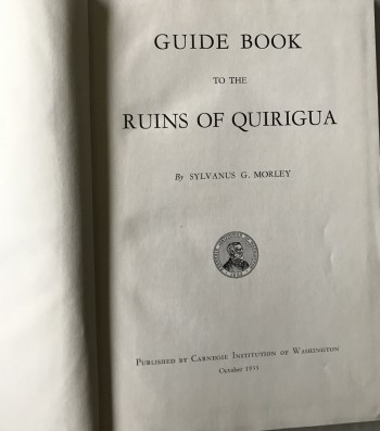 Image for Guide Book to the Ruins of Quirigua
