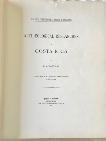 Image for Archeological Researches of Costa Rica