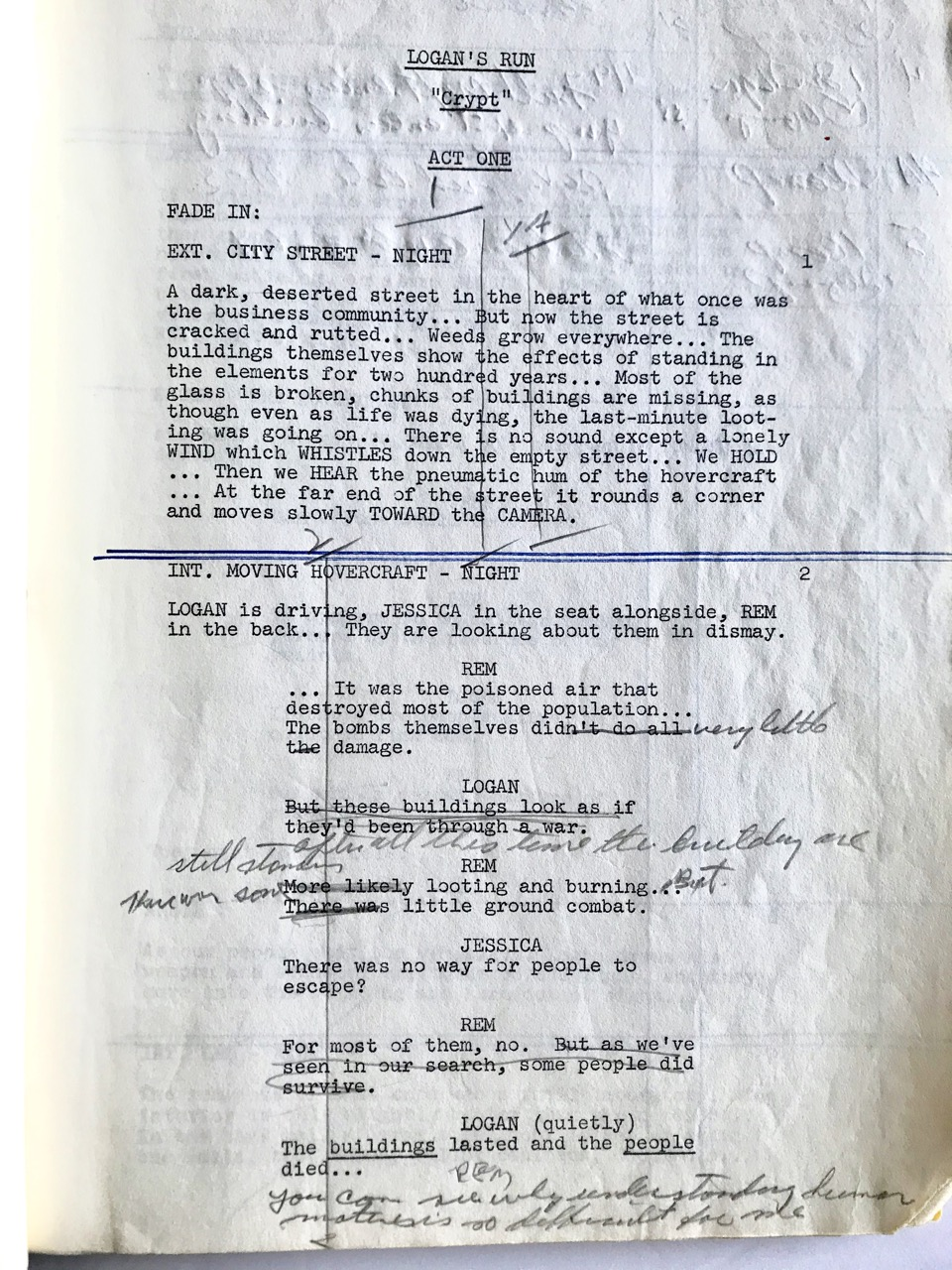 "Image for Original Teleplay/ Script for the television series Logan's Run:  ""Crypt"" [1977]