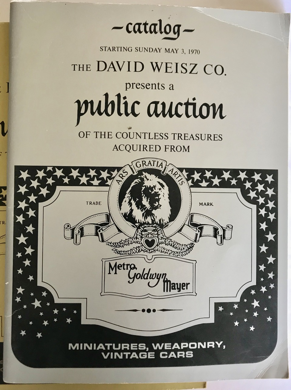 Image for Complete Set of Five 1970 MGM Studio Auction Catalogs