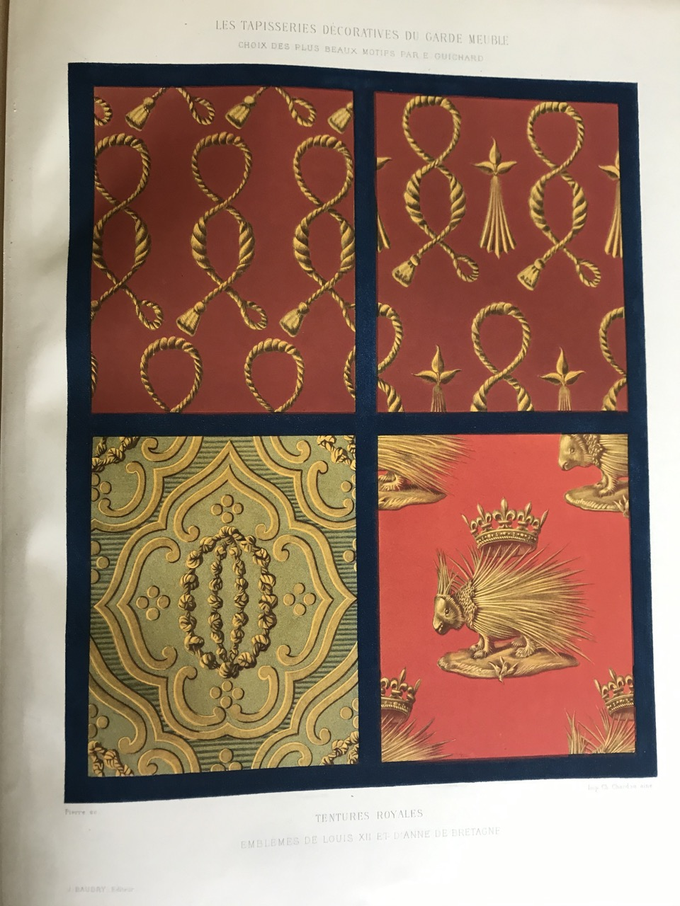 Image for [Decorative Tapestries of the French Royal Household] Les Tapisseries Decoratives du Garde-Meuble [mobilier nationale] Choix des Plus Beaux Motifs