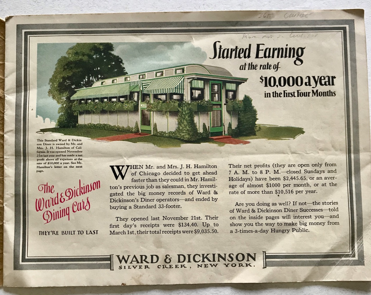 Image for [Industrial Catalog] Ward & Dickson Diners