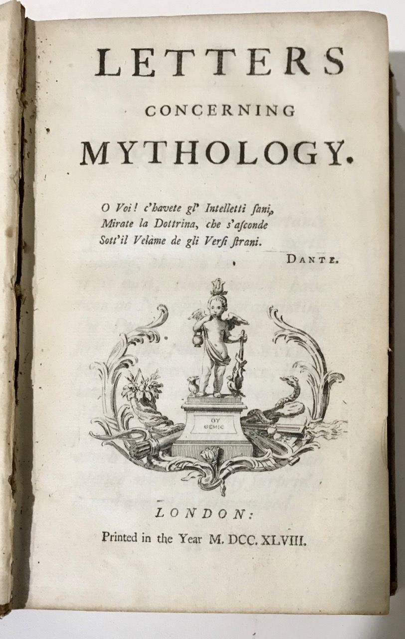 Image for LETTERS CONCERNING MYTHOLOGY