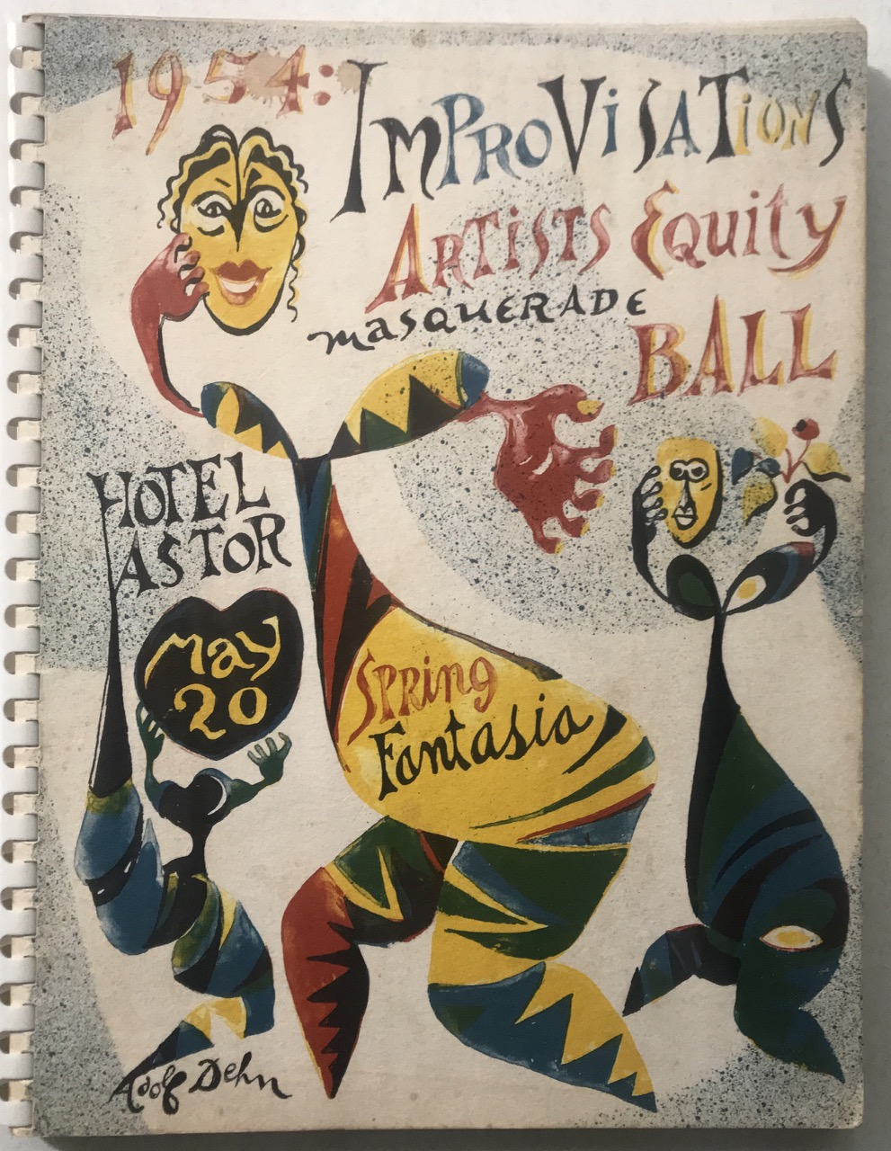 Image for Improvisations 1954 / Artists Equity Masquerade Ball