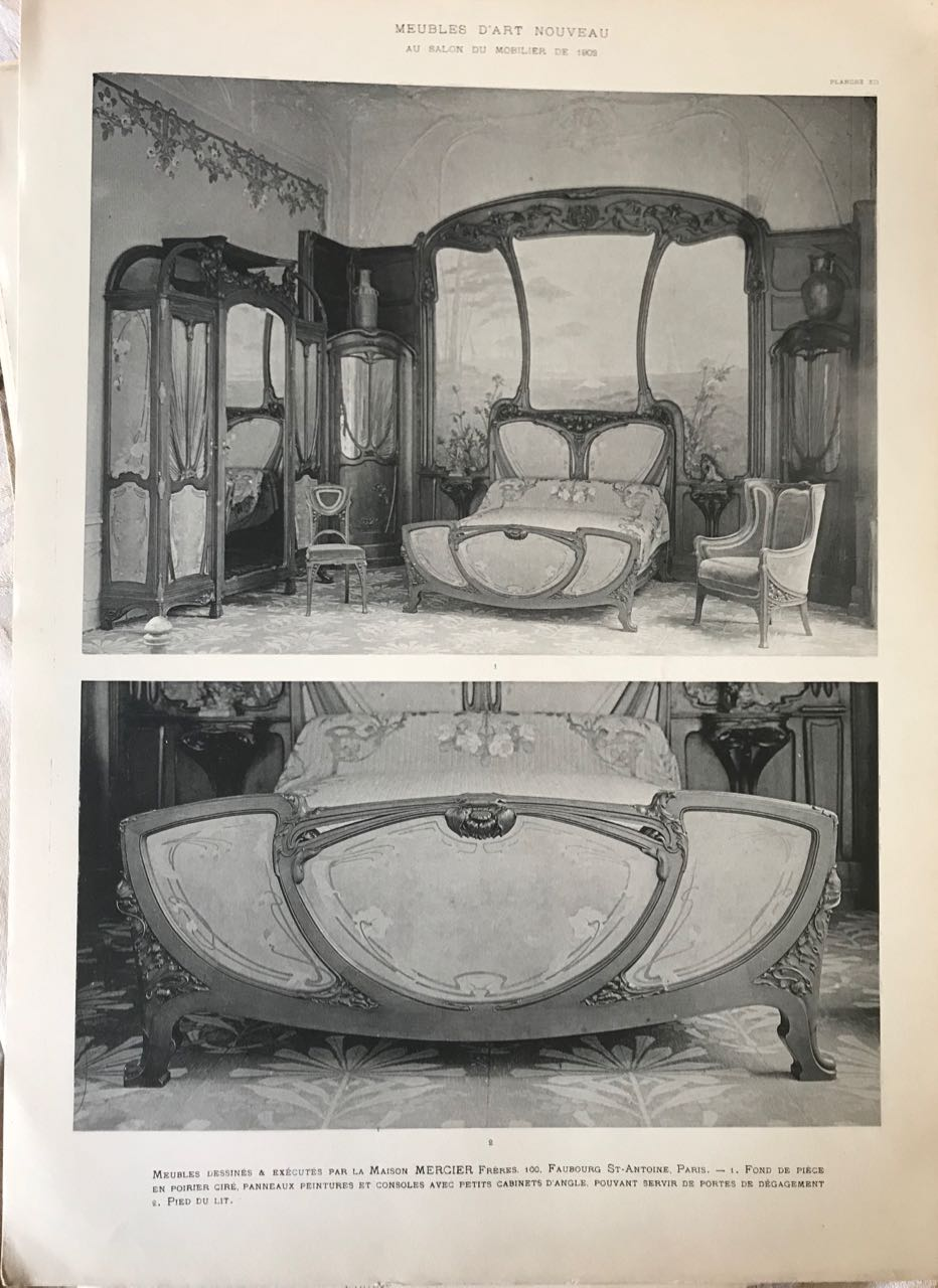 Image for Meubles d'Art Nouveau au Salon du Mobilier de 1902.  (Art Nouveau Furniture from the 1902 Paris Salon of Furniture)