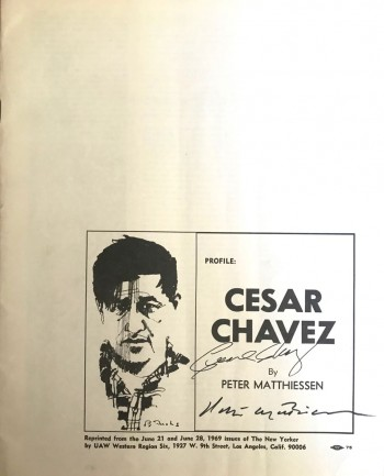 Image for Profile: Cesar Chavez [Signed by both PM and Cesar Chavez]
