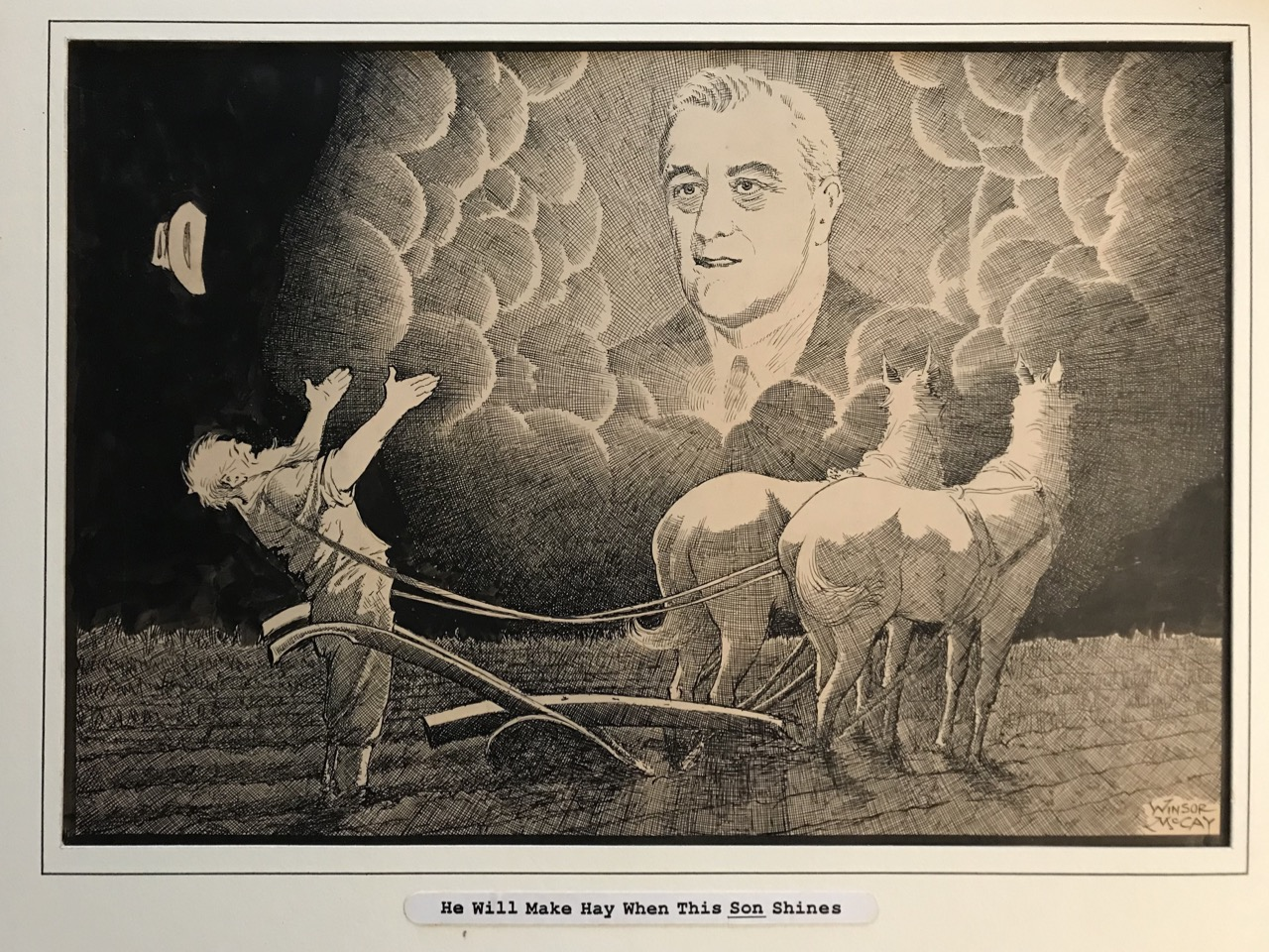 Image for Original editorial cartoon endorsing Franklin D. Roosevelt for his first presidential campaign