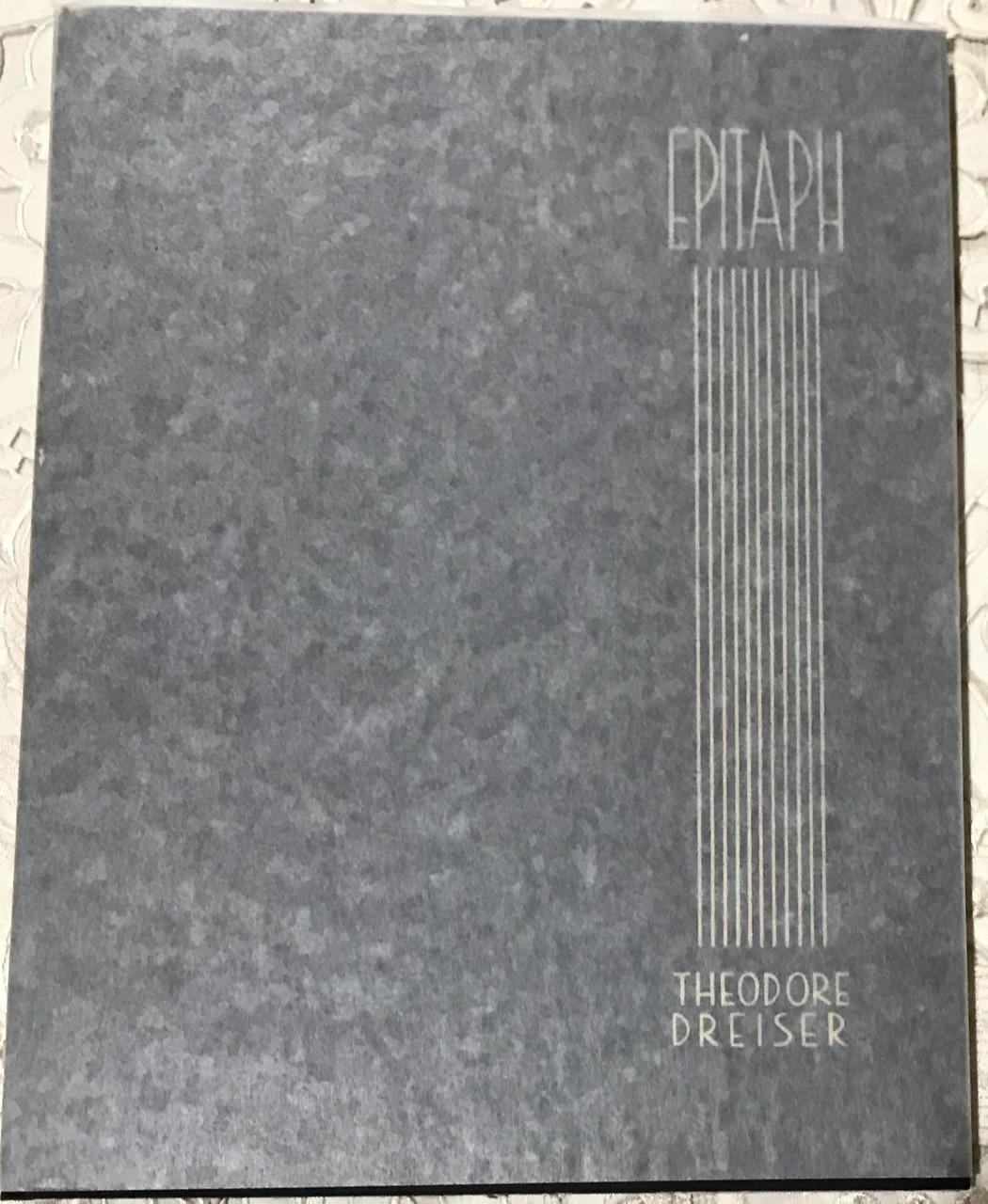 Image for Epitaph : a Poem / by Theodore Dreiser with scarce glassine d/w.